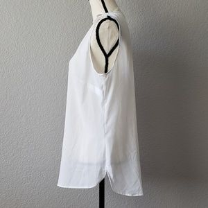 MICHAEL Michael Kors Tops - Michael Kors semi sheer white sleeveless blouse